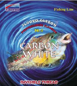 Tubertini Carbon White fluorcarbon, 50 m ,D 0.08 mm T/L 0,92/0,76