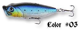 Seika Popper , zout water, 80 mm/15.7 gr. ,kleur blauw/zilver
