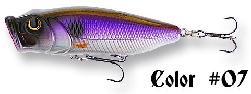 Seika Popper , zout water, 80 mm/15.7 gr. ,kleur paars/zilver