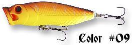 Seika Popper , zout water, 80 mm/15.7 gr. ,kleur rood/geel