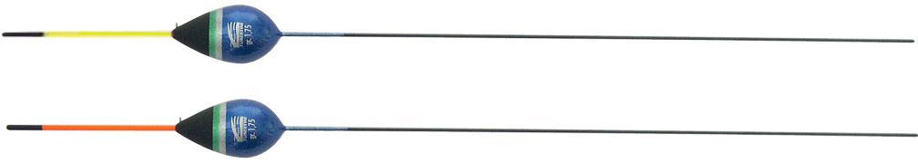Tubertini Pro 4 dobber 0.50 gram, balsahout, tweekleurige plastic antenne, carbon steel