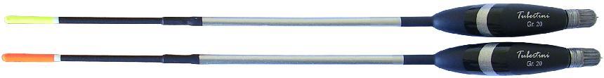 Tubertini Pro 69 matchdobber, 5 gram, insert antenne, met loden werpgewicht en ringen