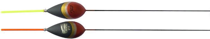 Tubertini Pro 83 dobber 4.00 gram, balsahout, plastic antenne met versterkte ring, carbon steel