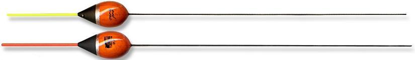 Tubertini Pro 87 dobber 0.30 gram, balsahout, plastic antenne, carbon steel