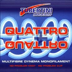Tubertini Quattro + Quattro , Dyneema 125 meter, D 0.10 mm T 11,00